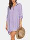 Robe de plage à ourlet haut-bas pour femme - violet