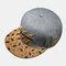 Embroidery Baseball Hat Summer Street Dance Wild Flat-edge Hat Mens Caps - Gray