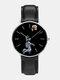 Mens Cartoon Astronaut&Earth Print Quartz Watch - Black