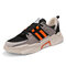 Men Mesh Splicing Light weight Sport Casual Sneakers - Orange