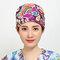 Cappellino chirurgico da donna in cotone a maniche lunghe in cotone puro stampato grigio anestesista estetista