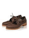 Plus Size Women Retro Lace-up Breathable Comfy Casual Oxfords Shoes - Coffee