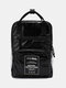 Men Women Anti-theft Waterproof Handbag Travel Backpack - Black