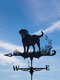 Garden Farm Iron Rooster Dragon Dog Horse Home Weathercock Weather Vane Wind Direction Indicator Yard Measuring Tools - #02
