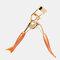 Orange Mermaid Handle Eyelash Curler Mini Comb 180 Degree Curling Eyelash Tool - Gold