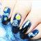 14 Pcs/Set Nail Polish Sticker Starry Sky Nail Sticker Nail Art Decor Full Wraps Manicure - Blue