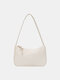Women Casual Solid Phone Shoulder Bag - White