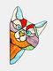 1 PC PVC Cartoon Peeking Cat Dog Cute Home Decoration Self-adhesive Waterproof Window Sticker Wall Sticker - #01
