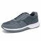 Men Sports Comfy Slip Resistant Outdoor Microfiber Leather Casual Sneakers - Grey