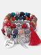 Vintage Multicolor Beautiful Opal Bracelet Temperament Multi-layer Tassel Bracelet - #04