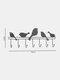 1 PC Hand-Welded Simple Multi-Hook Hanger Bird Shape For Living Room Bedroom Study Bathroo Muniversal - Black