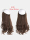 40 Colors Fishing Line Long Curly False Hair Pieces No-Trace Hair Extensions - 14