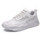 Men Splicing Mesh Breathable Comfy Casual Sport Casual Sneakers - White