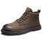 Men Synthetic Suede Outdoor Slip Resistant Work Style Ankle Boots - Camel