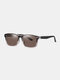 Unisex Wide Frame Outdoor Vintage Driving UV Protection Polarized Sunglasses - #06