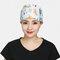 Surgical Cap Scrub Caps Dustproof Cotton Printed Beautician Hat  - 03