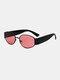 メンズ オーバル フレーム メガネ脚 UV 保護ファッション サングラス - ローズ