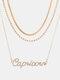 Collar Vintage Doce Constelaciones Mujer Collar de diamantes con incrustaciones de múltiples capas Colgante - Capricornio