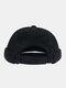 Men & Women Cotton Street Trend Fashion Casual British Style Brimless Landlord Hat Beanie Skull Hat - Black