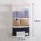 Stripe Lattice Hanging Organizer with Pockets Fabric Wall Door Storage Home Closet Organizing Bags