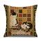 Retro Style Cats Leinen Baumwolle Kissenbezug Home Sofa Art Decor Throw Kissenbezug - #8