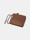 Men Genuine Leather Chains Money Clips Coin Purse Wallet - Brown 5