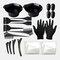 22 PCS Hair Dyeing Tool Set Comb Brush Disposable Shower Cap Latex Gloves Hair Dye Bowl - Black