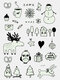 Christmas Luminous Temporary Tattoo Stickers Carnival Party Body Arm Water Transfer Paper - #07