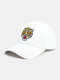 पुरुष कढ़ाई टाइगर पैटर्न बेसबॉल कैप आउटडोर सनशेड समायोज्य टोपी - सफेद