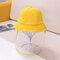 Children's Weatherproof Corduroy Fisherman Hat Removable Face Screen  - Yellow