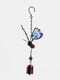 1PC Colorful Butterfly Pendant Bell Tube Wind Chimes Indoor Outdoor Garden Home Decor Ornaments - #05