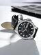 Alloy Steel Band Luminous Business Waterproof Quartz Watch Mens Watch - Black+Silver(PU)