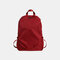 Men Nylon Sport Outdoor Anti theft Large Capacity  Multi-pocket Backpack - Red