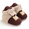 Baby Girls Boys Toddler Shoes Cute Comfy Plush Warm Soft Sole Snow Boots - Brown
