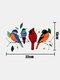 Colorful Multiple Birds Glass Window Wall Stickers Cartoon Shape Cute Gift Wallpaper Home Decor - #01