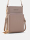 Simple All-match Multi-slots Stitch Detail Multi-pockets Touch Screen 6.8 Inch Phone Bag - Gray