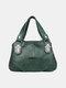 महिला रेट्रो मल्टी-लेयर्स हैंडबैग क्रॉसबॉडी बैग साचेल बैग - हरा