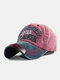 Men Washed Cotton Embroidery Baseball Cap Outdoor Sunshade Adjustable Hats - #01