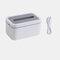 Waterproof Tissue Holder Bathroom Napkin Dispenser Tissue Box with Night Lights - White