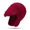 المرأة صوف حك قبعة كاب الصلبة اللون غطاء للأذنين الموهير في الهواء الطلق عارضة قبعة صامد للريح