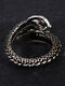 Vintage Animal Shape Men Ring Adjustable Open Dragon Ring Jewelry Gift - Silver