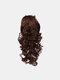 4 цвета длинное вьющееся волокно Парик повязки Волосы высокотемпературное - #02