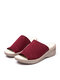 Women Summer Daily Soft Comfy Knitted Fabric Wearable Casaul Platform Wedges Slippers - Red