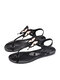 Women Summer Holiday Jelly Shoes Casual Butterfly Pattern Thong Sandals - Pink