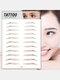 3D Eyebrow Tattoo Sticker Long Lasting Waterproof False Eyebrows Cosmetics - 17 Brown