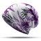 Mujer Útil algodón estampado Beanie Sombrero al aire libre a prueba de viento para ambas cabezas y Cuello calentador Sombrero