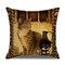 Retro Style Cats Leinen Baumwolle Kissenbezug Home Sofa Art Decor Throw Kissenbezug - #9