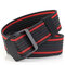 Mens Long Weave Canvas Elasticity Belt Outdoor Slider Buckle Durable Adjustable Ring Belt - Red