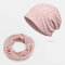 Hollow Breathable Beanie Hat Sunscreen Thin Scarf Hat Dual-use Cap - Pink