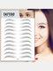3D Eyebrow Tattoo Sticker Long Lasting Waterproof False Eyebrows Cosmetics - 15 Black